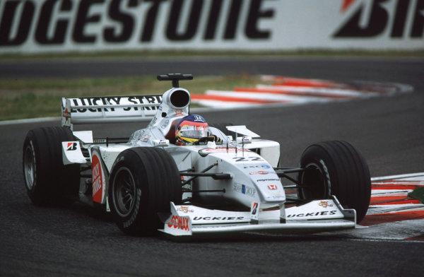 Suzuka, Japan.6-8 October 2000.Jacques Villeneuve (B.A R. 002 Honda) 6th position.World copyright - LAT Photographic