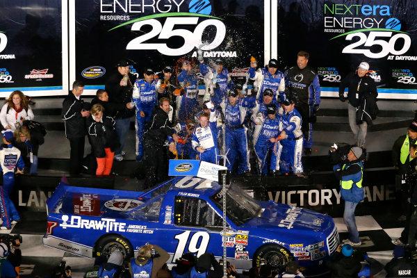 19-20 February, 2015, Daytona Beach, Florida USA Tyler Reddick celebrates in victory lane ?2015, Russell LaBounty LAT Photo USA