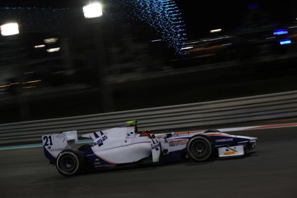 2013 GP2 Series Test 3 Yas Marina Circuit, Abu Dhabi, UAE. Day 3, Thursday 7th November 2013. Gianmarco Raimondo (CAN, Trident Racing)  World Copyright: Sam Bloxham/LAT Photographic. ref: Digital Image IMG_5910