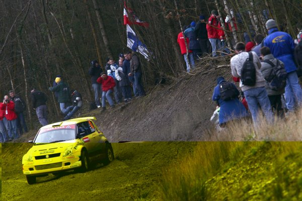 2006 World Rally Championship.Round 16, Wales Rally GB. 1st - 3rd  December 2006.Jaan Molder/Kartin Becker. Swift. Action.World Copyright: Drew Gibson/LAT Photographic.Ref: Digital Image Only.