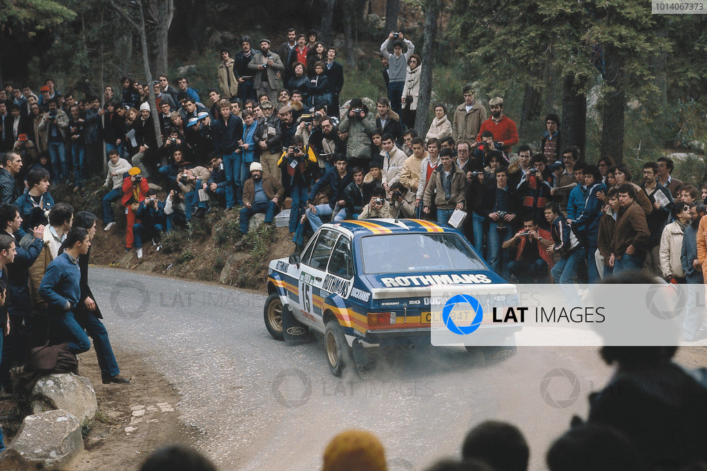 1981 World Rally Championship. Portuguese Rally, Portugal. 4th - 7th March 1981. Malcolm Wilson/Terry Harryman (Ford Escort RS1800), retired, action. World Copyright: LAT Photographic. Ref: 81RALLY13