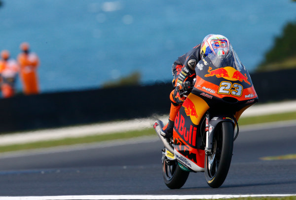 2017 Moto3 Championship - Round 16 Phillip Island, Australia. Friday 20 October 2017 Niccolo Antonelli, Red Bull KTM Ajo World Copyright: Gold and Goose / LAT Images ref: Digital Image 23281