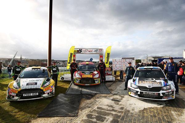 2017 British Rally Championship, Ulster Rally, Londonderry. 18th - 19th August 2017. Irish Tarmac Championship Podium. World Copyright: JEP/LAT Images.