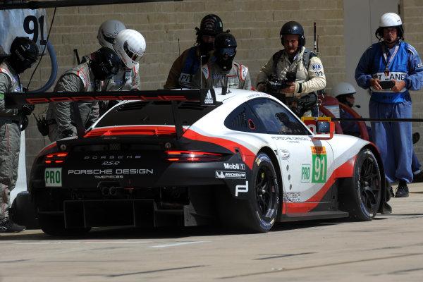 2017 FIA World Endurance Championship, COTA, Austin, Texas, USA. 14th-16th September 2017, #91 Porsche GT Team Porsche 911 RSR: Richard Lietz, Frederic Makowiecki  World Copyright. May/JEP/LAT Images
