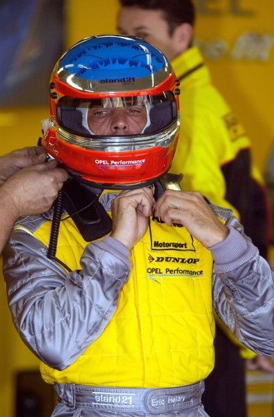 Eric Hellary (FRA) Opel Euroteam gets ready for a one-time return to the DTM since 2000 to replace Yves Olivier (FRA).