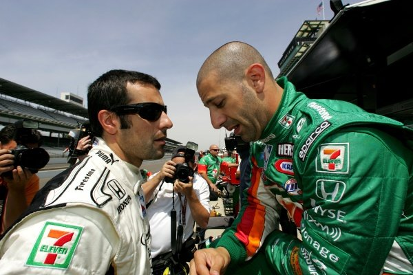 L-R: Andretti Green Team mates Dario Franchitti (GBR) and Tony Kanaan (BRA).