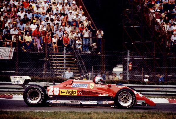 1982 Italian Grand Prix.Monza, Italy.10-12 September 1982.Mario Andretti (Ferrari 126C2) 3rd position.Ref-82 ITA 02.World Copyright - LAT Photographic