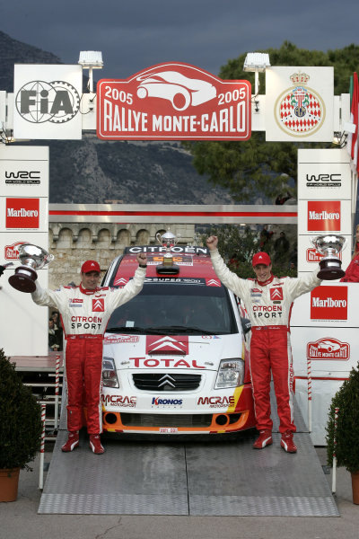 2005 FIA World Rally Champs. Round one, Rally Monte Carlo 20th-23rd January 2005. Kris Meeke, Citreon, podium World Copyright: McKlein/LAT