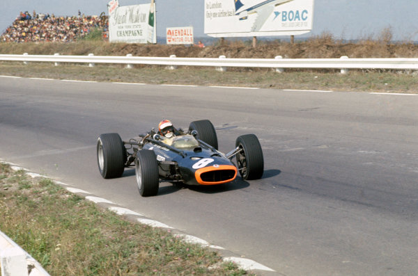 US Grand Prix.Watkins Glen, USA. 29/9 - 1/10 1967. RD10.Mike Spence, BRM P83 retired due to engine problems. Action.World Copyright:LAT Photographic.Ref:67_USA_25