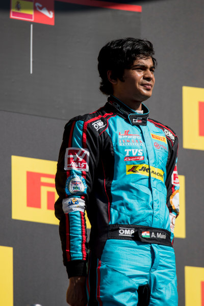 2017 GP3 Series Round 1.  Circuit de Catalunya, Barcelona, Spain. Sunday 14 May 2017. Arjun Maini (IND, Jenzer Motorsport)  Photo: Zak Mauger/GP3 Series Media Service. ref: Digital Image _54I9470