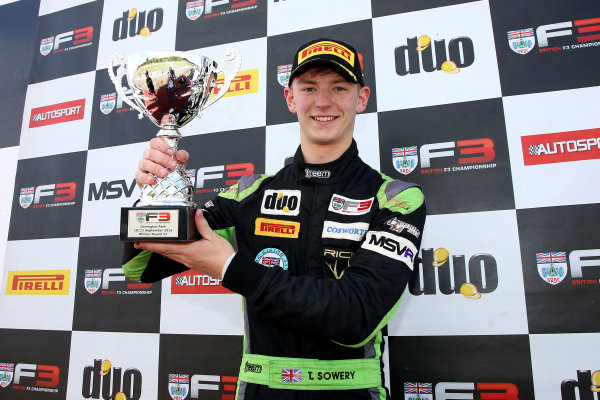2016 BRDC F3 Championship, Donington Park, Leicestershire. 10th - 11th September 2016. Toby Sowery (GBR) Lanan Racing BRDC F3. World Copyright: Ebrey / LAT Photographic.