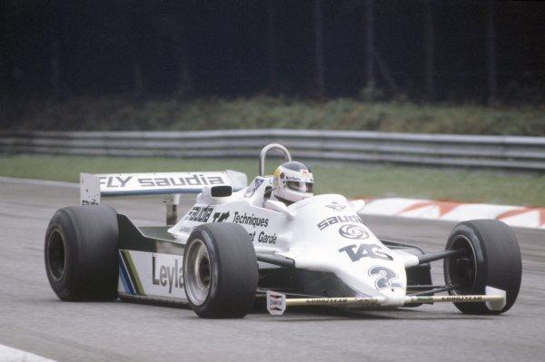 1981 Italian Grand PrixMonza, Italy. 11-13 September 1981.Carlos Reutemann (Williams FW07C-Ford Cosworth), 3rd position. Ref - 81ITA01.World Copyright - LAT Photographic