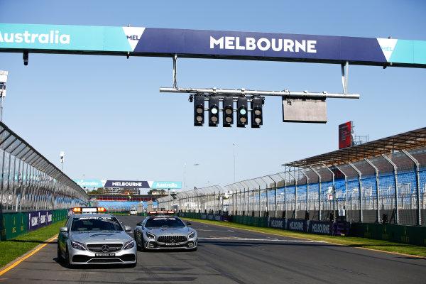 FIA Formula 1 Mercedes-AMG GTR Safety car and Mercedes-AMG C63 S Medical Car.