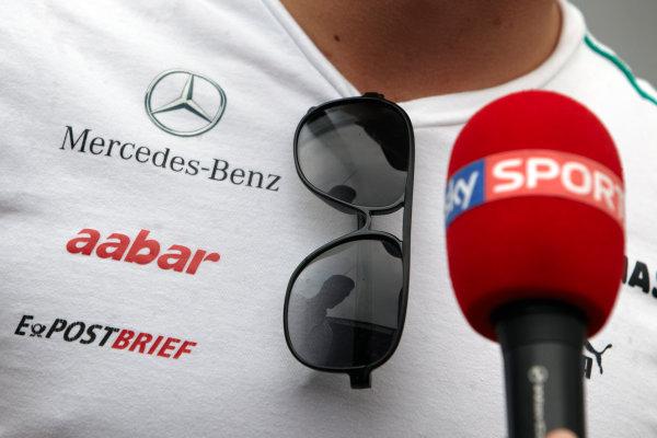 Hungaroring, Budapest, Hungary 26th July 2012 Nico Rosberg, Mercedes AMG is interviewed by Sky Sports. World Copyright: Steve Etherington/LAT Photographic ref: Digital Image FA4C6745 copy