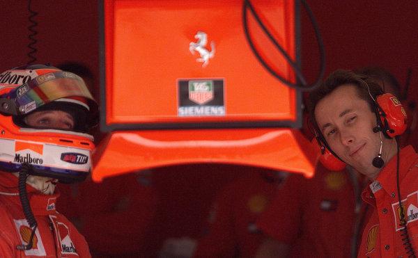 2001 Spanish Grand PrixCatalunya, Barcelona, Spain. 27-29 April 2001.Rubens Barrichello (Ferrari).World Copyright - Steve Etherington/LAT Photographicref: 18 mb Digital Image