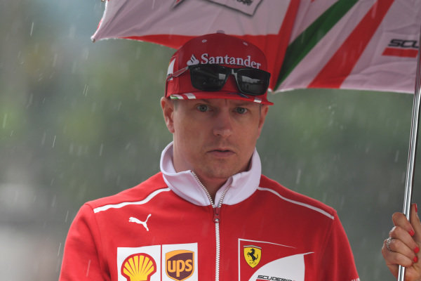 Kimi Raikkonen (FIN) Ferrari at Formula One World Championship, Rd2, Chinese Grand Prix, Preparations, Shanghai, China, Thursday 6 April 2017.
