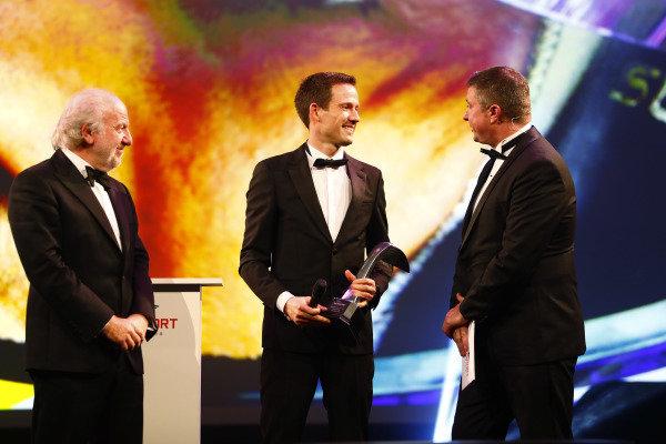 Sebastien Ogier receives the Rally Driver of the Year award
