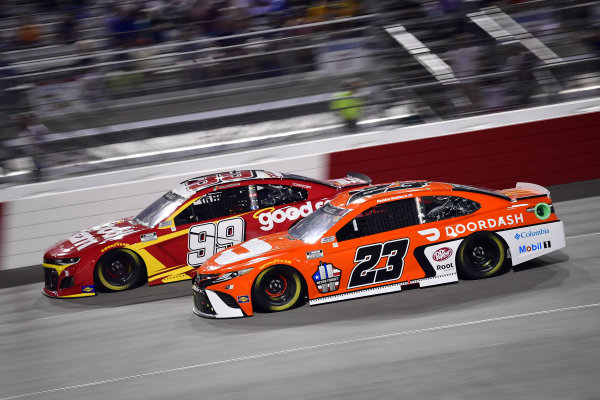 #99: Daniel Suarez, TrackHouse Racing, Chevrolet Camaro Good Sam, #23: Bubba Wallace, 23XI Racing, Toyota Camry Door Dash