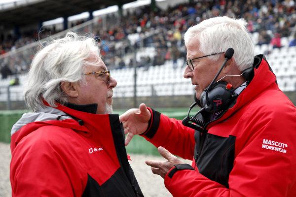 Keke Rosberg and Arno Zensen, Audi Sport Team Rosberg.