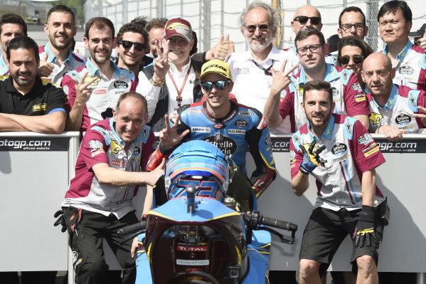 Third place Alex Marquez, Marc VDS Racing.