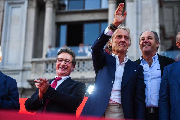 Luca di Montezemolo and Gerhard Berger