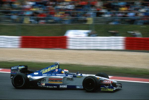1999 European Grand Prix.Nurburgring, Germany. 24-26 September 1999.Marc Gene (Minardi M01 Ford) scores the Fondmetal Minardi Teams only point, finishing in 6th place.World Copyright - Lawrence/LAT Photographic