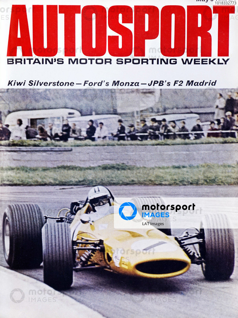 Cover of Autosport magazine, 3rd May 1968