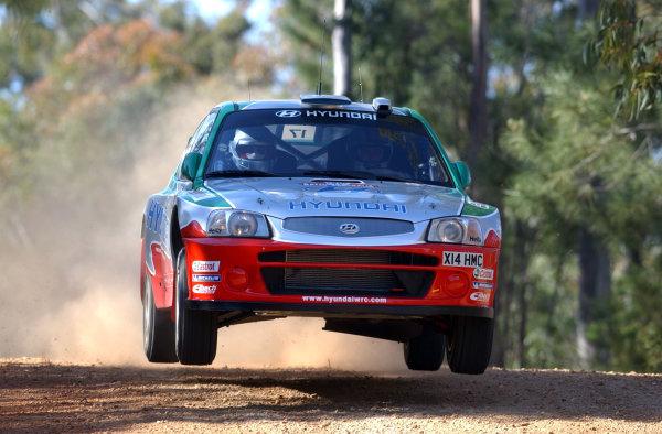 2002 World Rally Championship.Telstra Rally Australia, Perth. October 31st-November 3rd.Armin Schwarz during shakedown.Photo: Ralph Hardwick/LAT