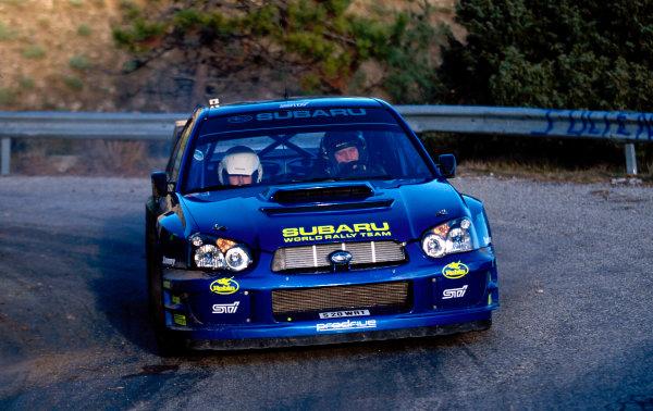 2002 World Rally TestingFrance, 10th December 2002.Tommi Makinen, Subaru Impreza WRC, portraitWorld Copyright: Photo4/LAT Photographicref: Digital Image Only