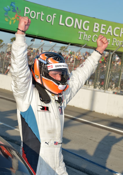 19-20 April, 2013, Long Beach, California.#55 BMW Team RLL BMW's Bill Auberlen, GT class winner ©2013 Dan R. Boyd LAT Photo USA