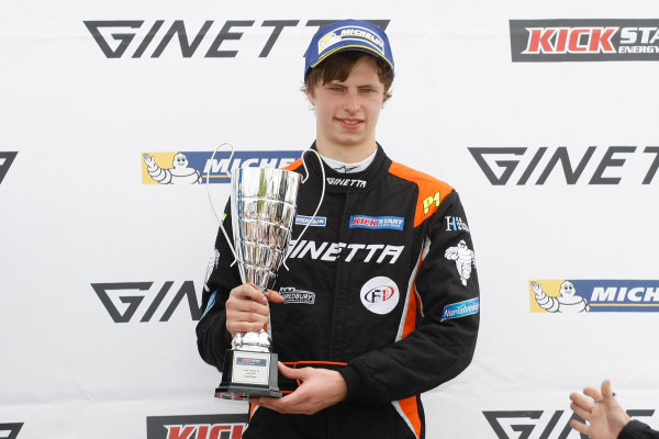 2015 Ginetta GT4 Supercup, Croft, 27th-28th June 2015,  Kyle Hornby (GBR) R&J Motorsport Ginetta Junior  World copyright. Jakob Ebrey/LAT Photographic
