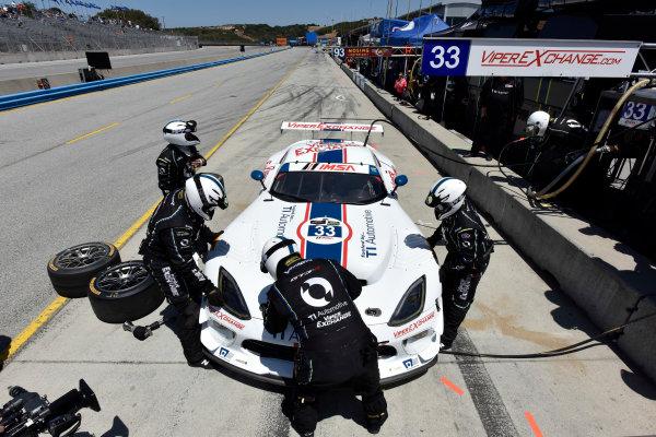 1-3 May, 2015, Monterey, California, USA 33, Viper V10, SRT GT3-R, GTD, Ben Keating, Jeroen Bleekemolen pit stop ?2015 Scott R LePage  LAT Photo USA