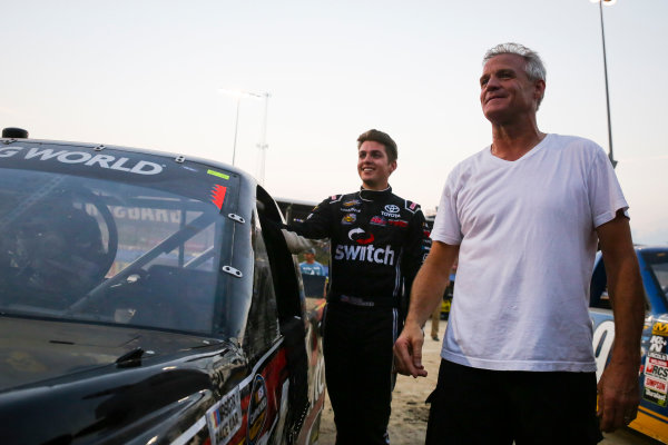 NASCAR Camping World Truck Series Eldora Dirt Derby Eldora Speedway, Rossburg, OH USA Tuesday 18 July 2017 Noah Gragson, Switch Toyota Tundra and Kenny Wallace World Copyright: Barry Cantrell LAT Images