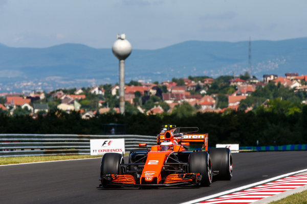 Hungaroring, Budapest, Hungary.  Friday 28 July 2017. Stoffel Vandoorne, McLaren MCL32 Honda. World Copyright: Andy Hone/LAT Images  ref: Digital Image _ONY9301