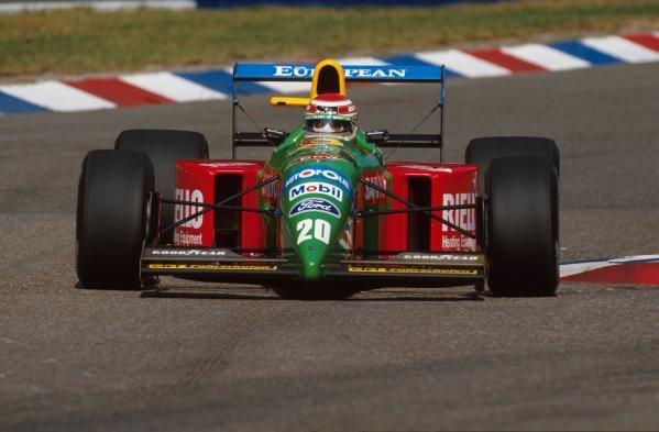 Nelson Piquet(BRA), Benetton B190, DNF German GP, Hockenheim, Germany, 29 July 1990