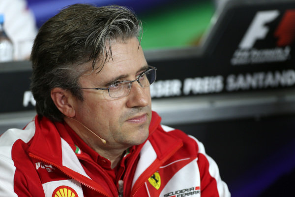 Pat Fry (GBR) Ferrari Technical Director in the Press Conference. Formula One World Championship, Rd9, German Grand Prix, Practice, Nurburgring, Germany, Friday 5 July 2013.