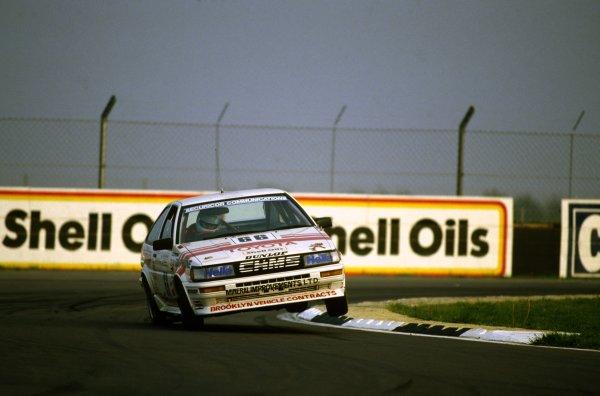 1987 British Touring Car Championship. Donington Park, England. Chris Hodgetts (Toyota Corolla GT) champion, action.World Copyright: LAT Photographic.ref: 35mm Colour Transparency.