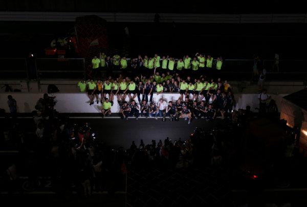 Suzuka Circuit, Suzuka, Japan.  Sunday 13th October 2013.  The Red Bull team celebrate victory. World Copyright: Glenn Dunbar/LAT Photographic  ref: Digital Image _89P3162