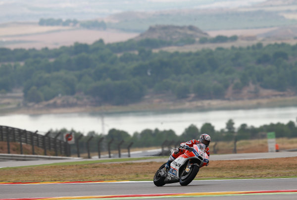 2017 MotoGP Championship - Round 14 Aragon, Spain. Friday 22 September 2017 Andrea Dovizioso, Ducati Team World Copyright: Gold and Goose / LAT Images ref: Digital Image 693598