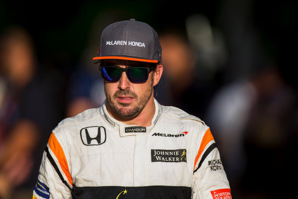 Sepang International Circuit, Sepang, Malaysia. Saturday 30 September 2017. Fernando Alonso, McLaren.  World Copyright: Zak Mauger/LAT Images  ref: Digital Image _X0W8064