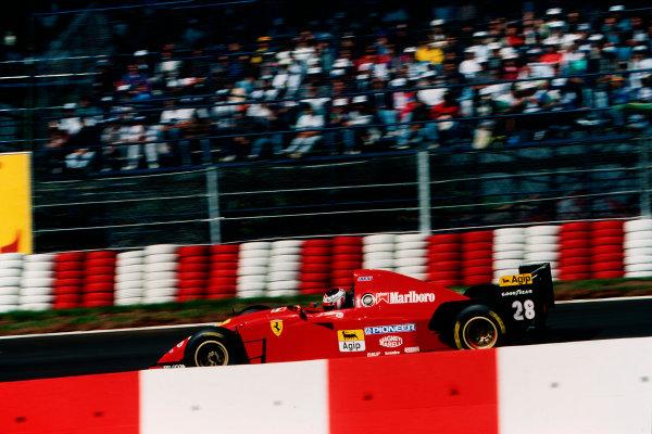 Interlagos, Sao Paulo, Brazil.24-26 March 1995.Gerhard Berger (Ferrari 412T2) 3rd position.Ref-95 BRA 16.World Copyright - LAT Photographic