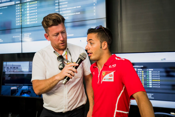 2017 FIA Formula 2 Round 4. Baku City Circuit, Baku, Azerbaijan. Saturday 24 June 2017. Antonio Fuoco (ITA, PREMA Racing)  Photo: Zak Mauger/FIA Formula 2. ref: Digital Image _54I1506