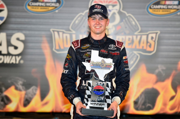 9-10 June, 2016, Fort Worth, Texas USA William Byron celebrates his win in Victory Lane ? 2016, Nigel Kinrade LAT Photo USA