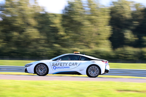 FIA Formula E Test Day, Donington Park, UK.  19th August 2014. Official Formula E Safety Car. Photo: Malcolm Griffiths/FIA Formula E ref: Digital Image F80P9855