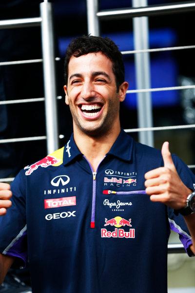 Spa-Francorchamps, Spa, Belgium. Thursday 21 August 2014. Daniel Ricciardo, Red Bull Racing. World Copyright: Andy Hone/LAT Photographic. ref: Digital Image _ONZ5335