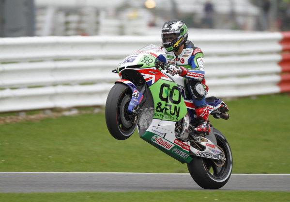 2014 MotoGP Championship  British Grand Prix.  Silverstone, England. 29th - 30st August 2014.  Scott Redding, Gresini Honda.  Ref: _W7_8504. World copyright: Kevin Wood/LAT Photographic