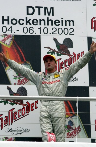 DTM Championship 2002, Round 10 - Hockenheimring, Germany, 6 October 2002 - Bernd Schneider (Vodafone AMG-Mercedes) wins his second race of the season.