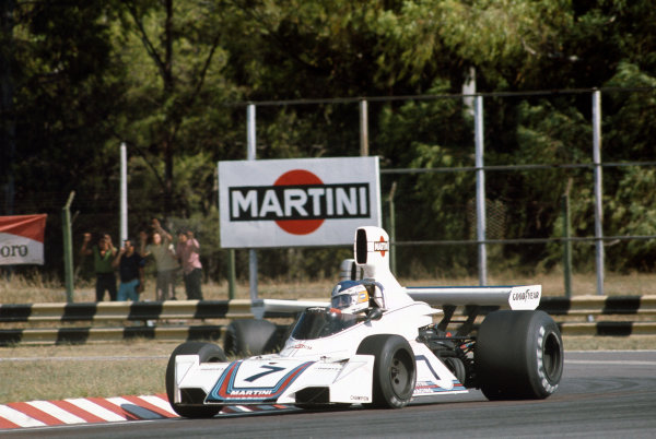 Buenos Aires, Argentina. 10-12 January 1975. Carlos Reutemann, Brabham BT44B Ford. Ref: 75ARG10. World Copyright - LAT Photographic