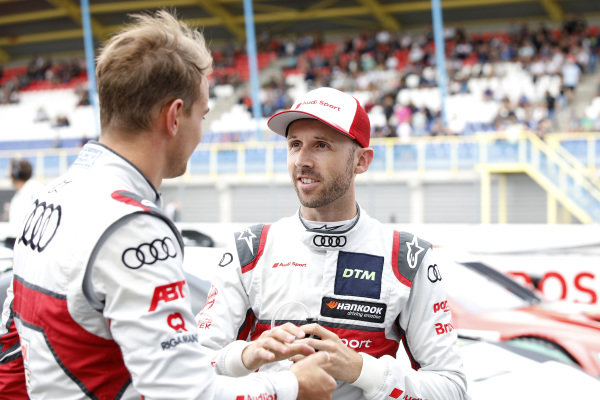 René Rast, Audi Sport Team Rosberg and Nico Müller, Audi Sport Team Abt Sportsline.