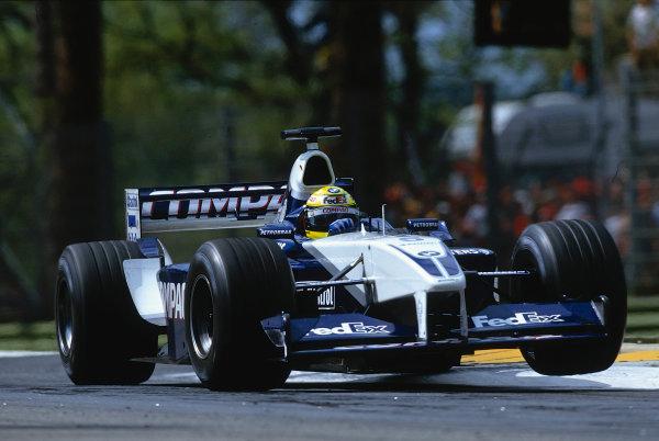 2002 San Marino Grand Prix.Imola, Italy.12-14 April 2002.Ralf Schumacher (Williams FW24 BMW) 3rd position.Ref-02 SM 39.World Copyright - LAT Photographic